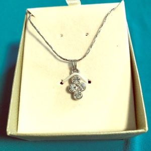 Silver-tone and Crystal necklace. Never worn.